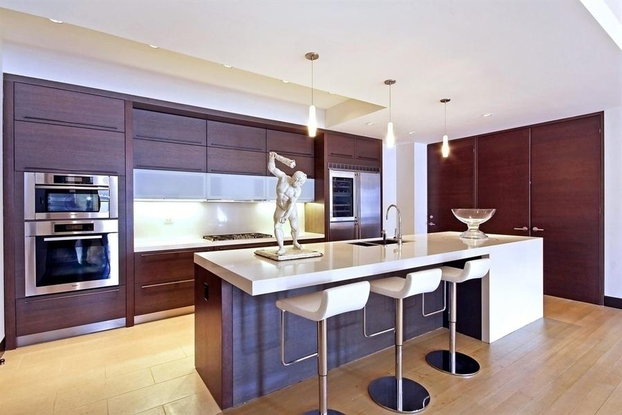 Exceptionnel Dark Wood Veneer, Soho, New York, NYC, Modern Kitchen, Modern Design,  European Kitchen, Island, Kitchen/dining,