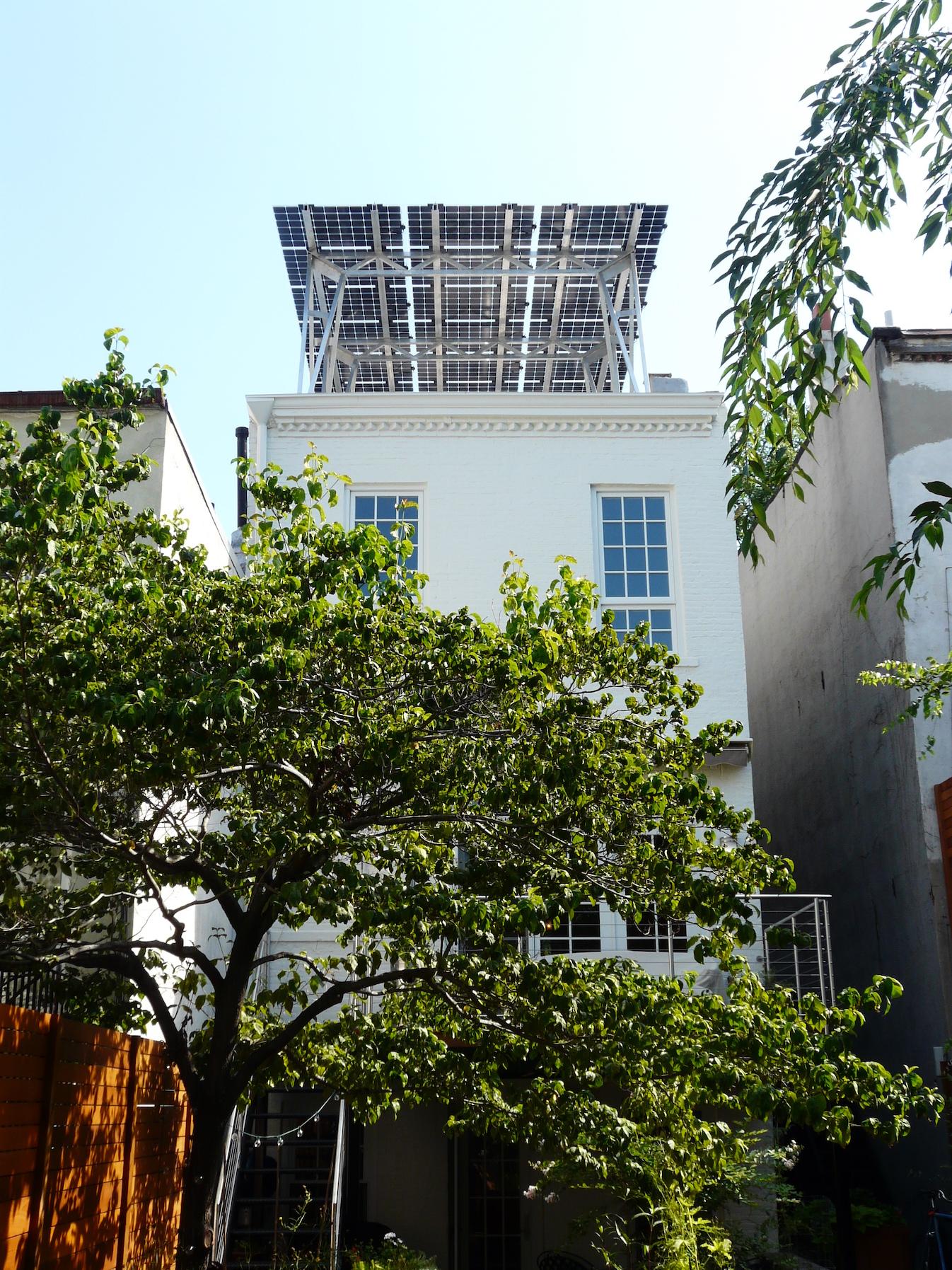 Lighting Basement Washroom Stairs: Brooklyn SolarWorks